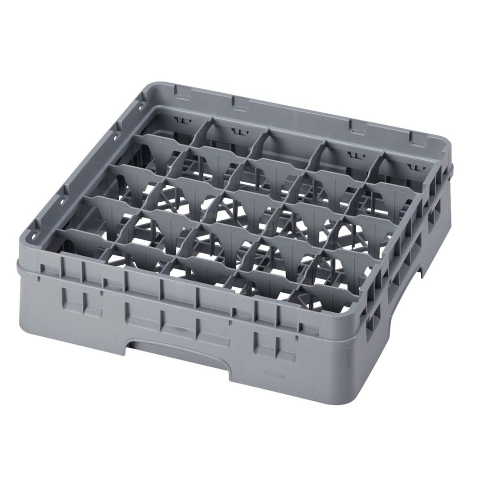 Cambro® 25S318151 Camrack® Soft Gray 25-Compartment Glass Rack