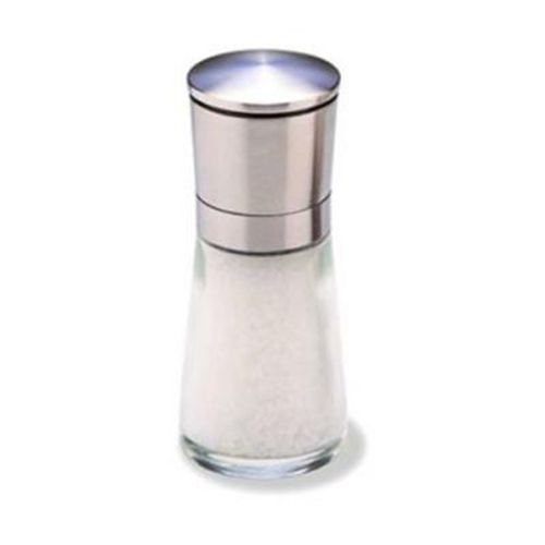 Olde Thompson 3823-00-0-0 Bavaria Glass Salt Mill with Brushed S/S Top