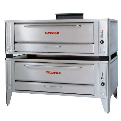 "Blodgett 1048 DOUBLE S/S Deck Type 48"" Gas Double Pizza Oven"