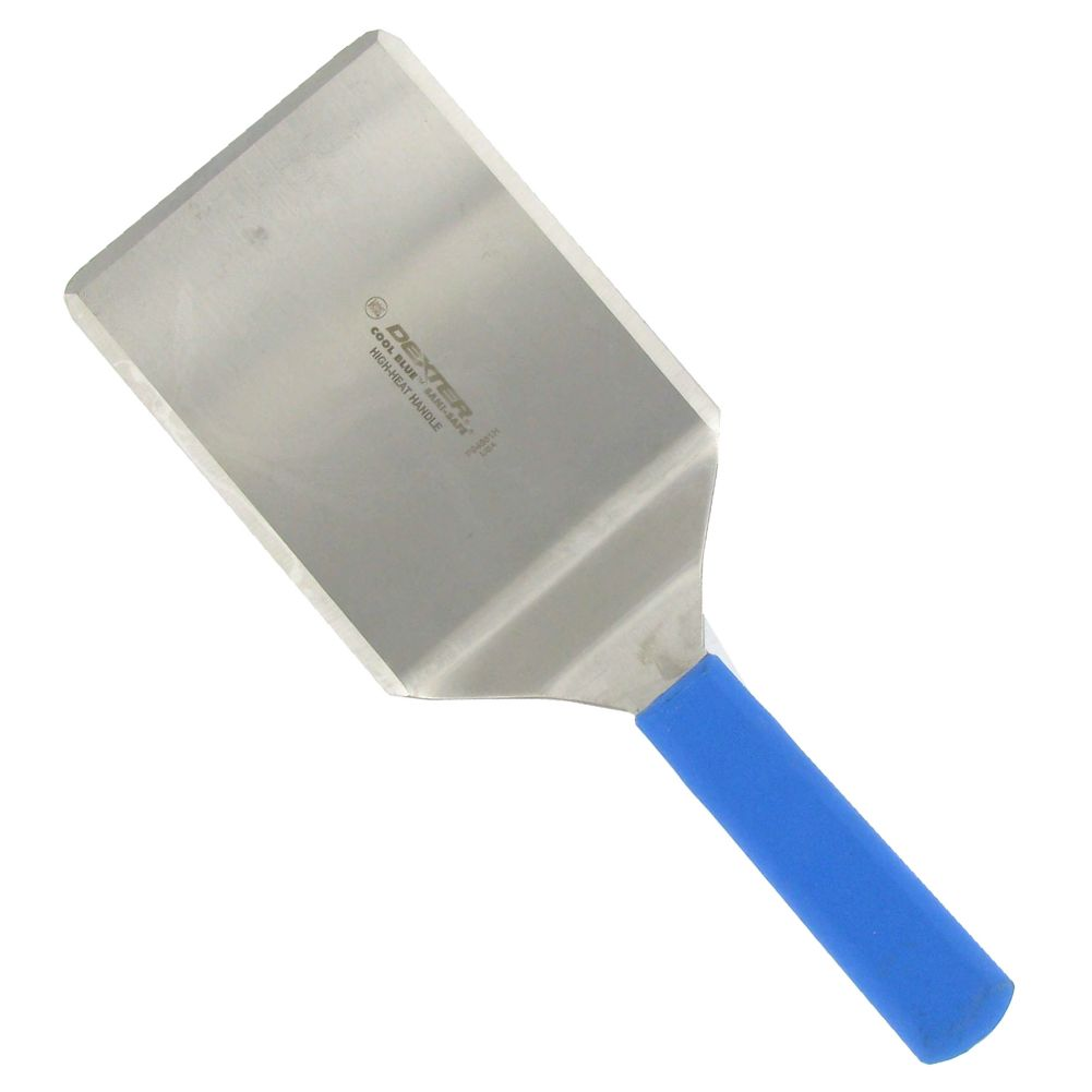 "Dexter Russell 31655H High Heat S/S 6 x 5"" Turner w/ Blue Handle"