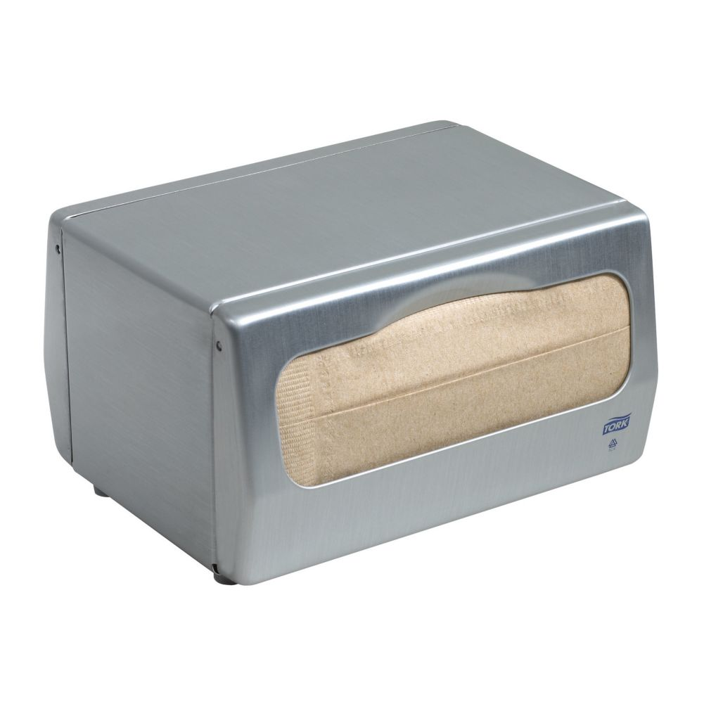 SCA Tissue 13TBS Tork® Brushed Steel Table Napkin Dispenser