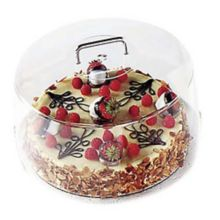 "Cambro® RD1200CW135 Camwear® Clear Round 12"" Cake Cover"