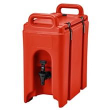Cambro 250LCD158 Camtainer Red 2.5 Gal. Insulated Beverage Camtainer