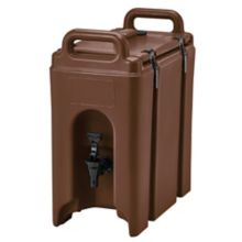 Cambro 250LCD131 Camtainer Brown 2.5 Gal. Insulated Beverage Camtainer