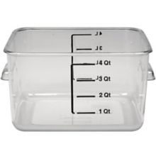 Rubbermaid FG630400CLR Clear Space Saving 4 Quart Square Container