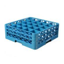 Carlisle® RG25-214 OptiClean™ 25-Compartment Blue Glass Rack