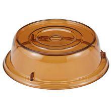 """Cambro 909CW153 Camwear Camcover® Amber 9-3/4"""" Plate Cover - Dozen"""