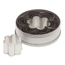 Ateco 7806 Stainless Plain Edge Daisy Shaped Cutter Set - 6 / ST