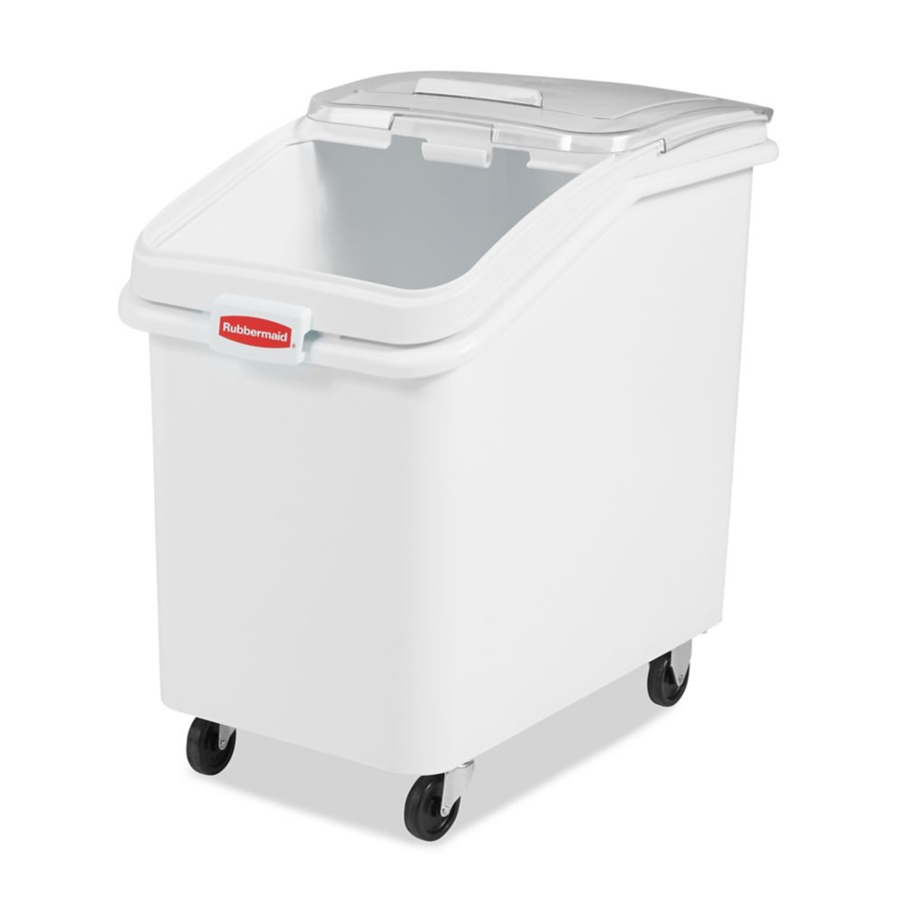 Rubbermaid FG360388 Slant Front 4 Cu. Foot Mobile Ingredient Bin
