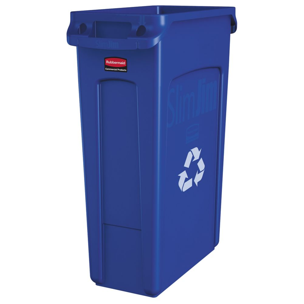 Rubbermaid FG354007 Slim Jim Vented 23 Gallon Recycle Container
