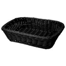 """G.E.T. WB-1508-BK Polyweave Black 11-1/2"""" x 8-1/2"""" Basket - 12 / CS"""