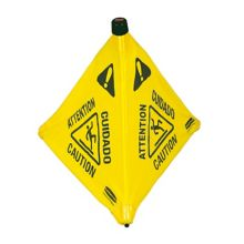 Rubbermaid® FG9S0100 Multilingual Wet Floor Pop-Up Safety Cone