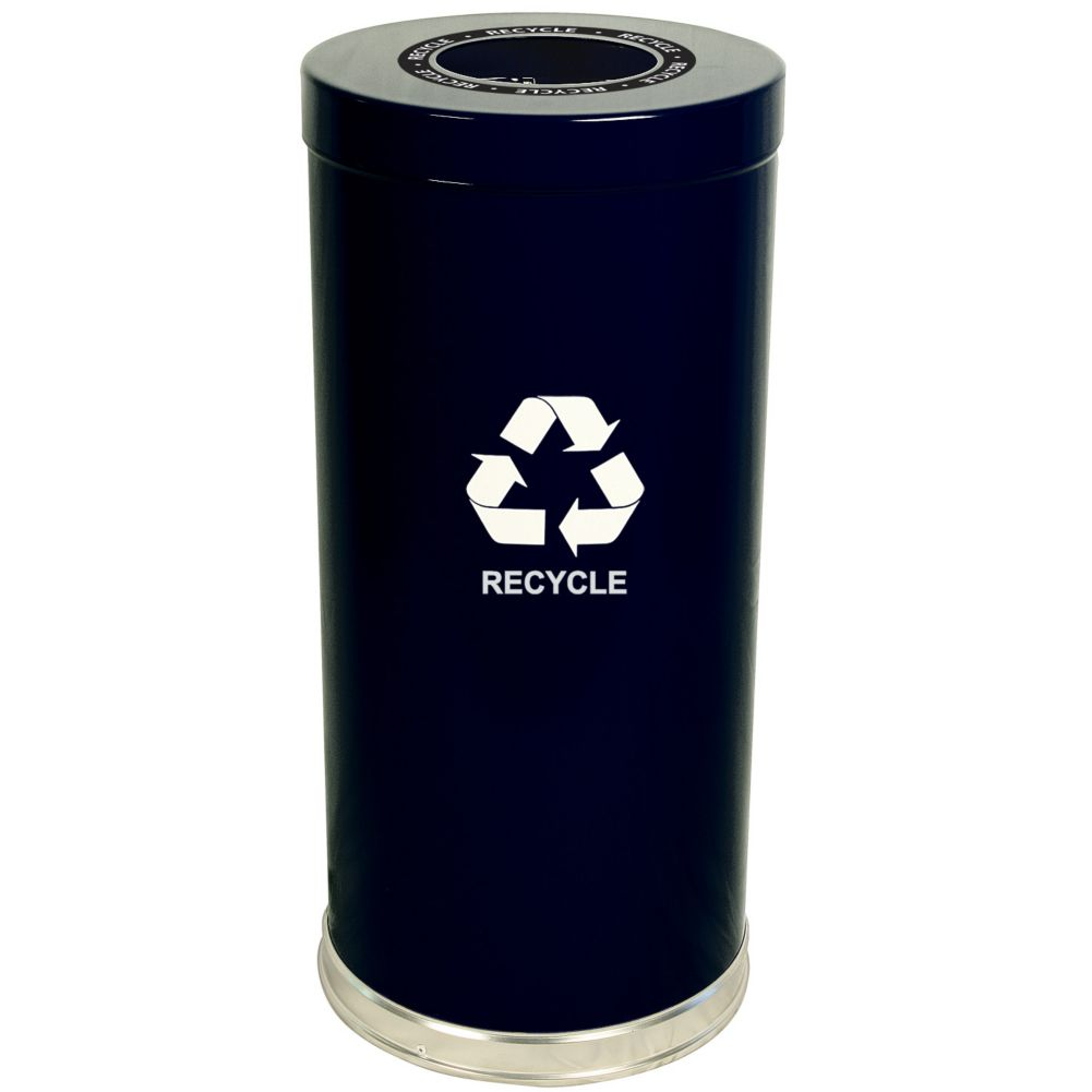 Witt 15RTBK-1H Emoti-Can 15 Gallon Black Recycling Container