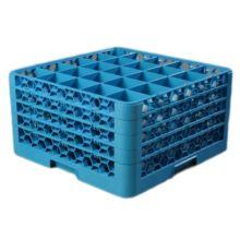 Carlisle® XRG25-414 OptiClean 25-Compartment Blue Glass Rack