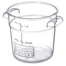 Carlisle® 1076107 StorPlus™ 1 Qt. Clear Storage Container