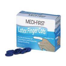 Afassco® 5015 Medium Blue Finger Cots - 144 / BX