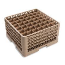Traex® TR9EEEE Beige 49 Compartment Glass Rack with 4 Extenders
