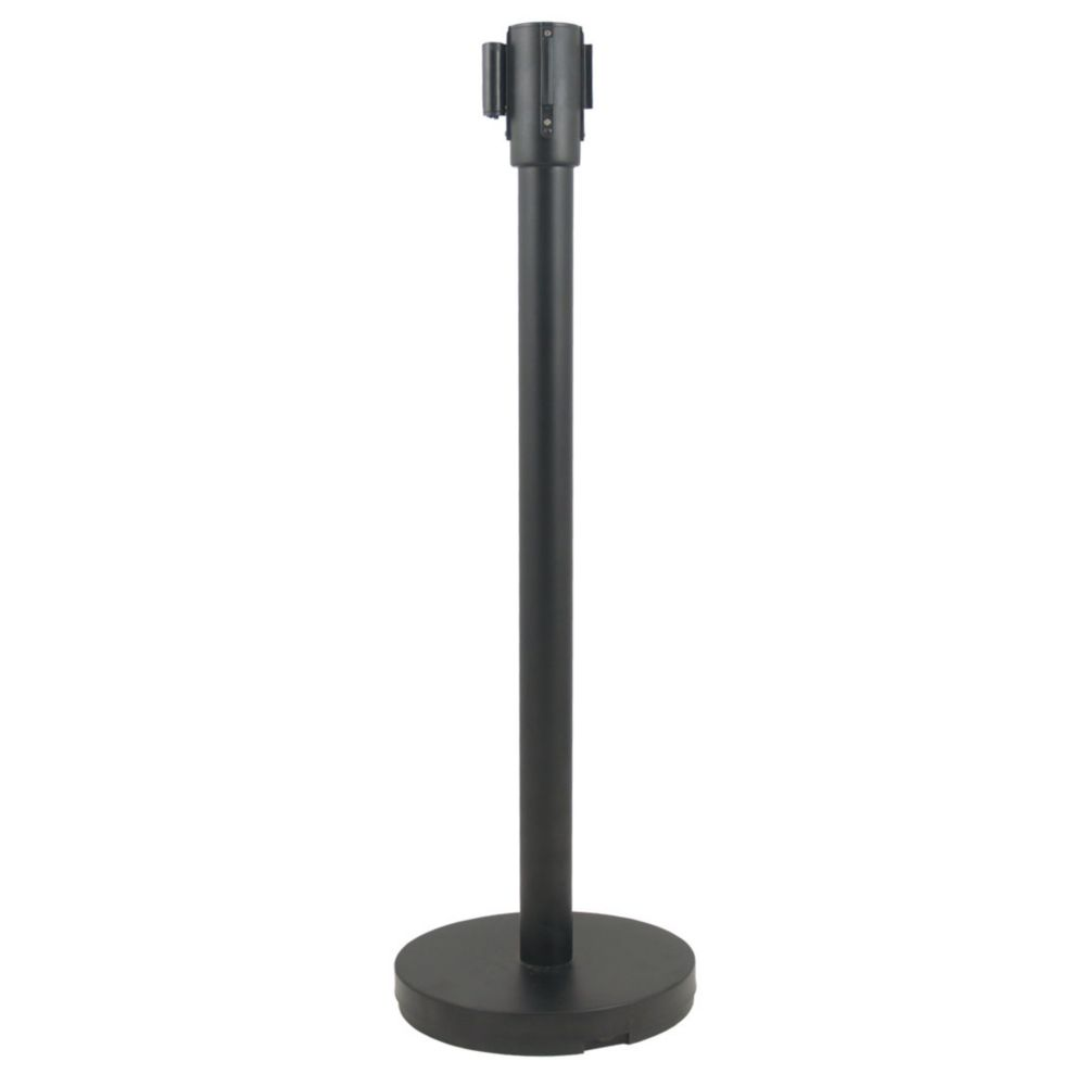 Update International RS-36BK Black Stanchion with Pole and Base