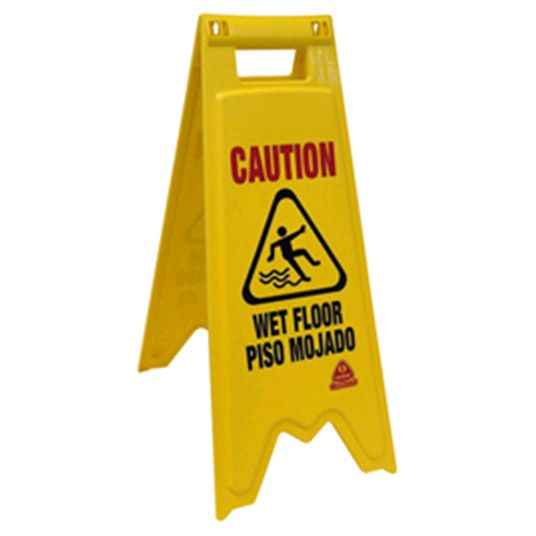 O-Cedar® 96991 Plastic Bilingual Wet Floor Sign