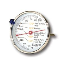 "Taylor® 5939N 120-200°F Meat Thermometer with 4.5"" Stem"