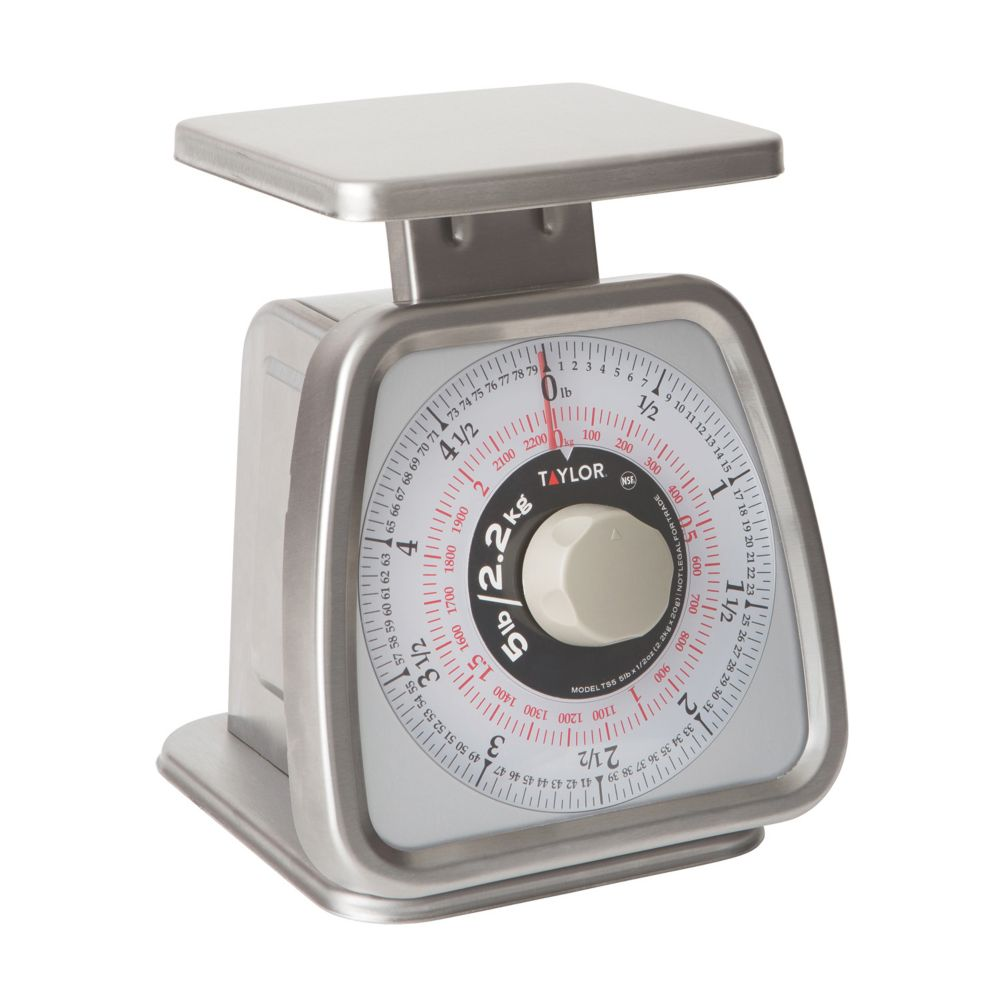 Taylor® Precision TS5 S/S 5 Lb. Rotating Dial Portion Scale