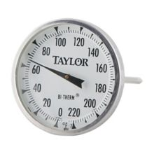 Taylor Precision 61054J S/S 0-200°F Meat Thermometer w/ 4 In. Stem