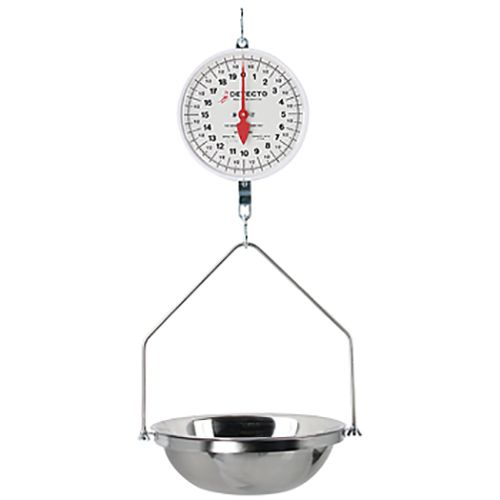 Detecto® MCS-20DF Double Dial 20 Lb. Hanging Fish Scale