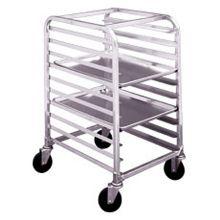 Win-Holt® AL-1810/H-KD Knock Down Aluminum 10-Bun Pan Rack