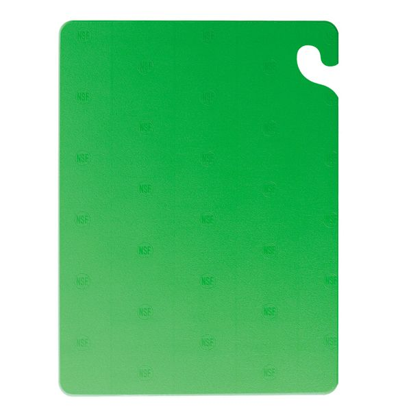 "San Jamar CB152012GN Cut-N-Carry 15 x 20"" Green Cutting Board"