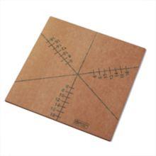 American Metalcraft MPCUT6 6 Slice Pizza Cutting Guide Board