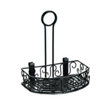 American Metalcraft CRS68 Ironworks Blk Scroll Design Condiment Caddy