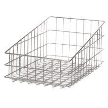 Win-Holt® WSBB1118 Nickel Chrome Wire Slant Top Bagel / Bun Basket