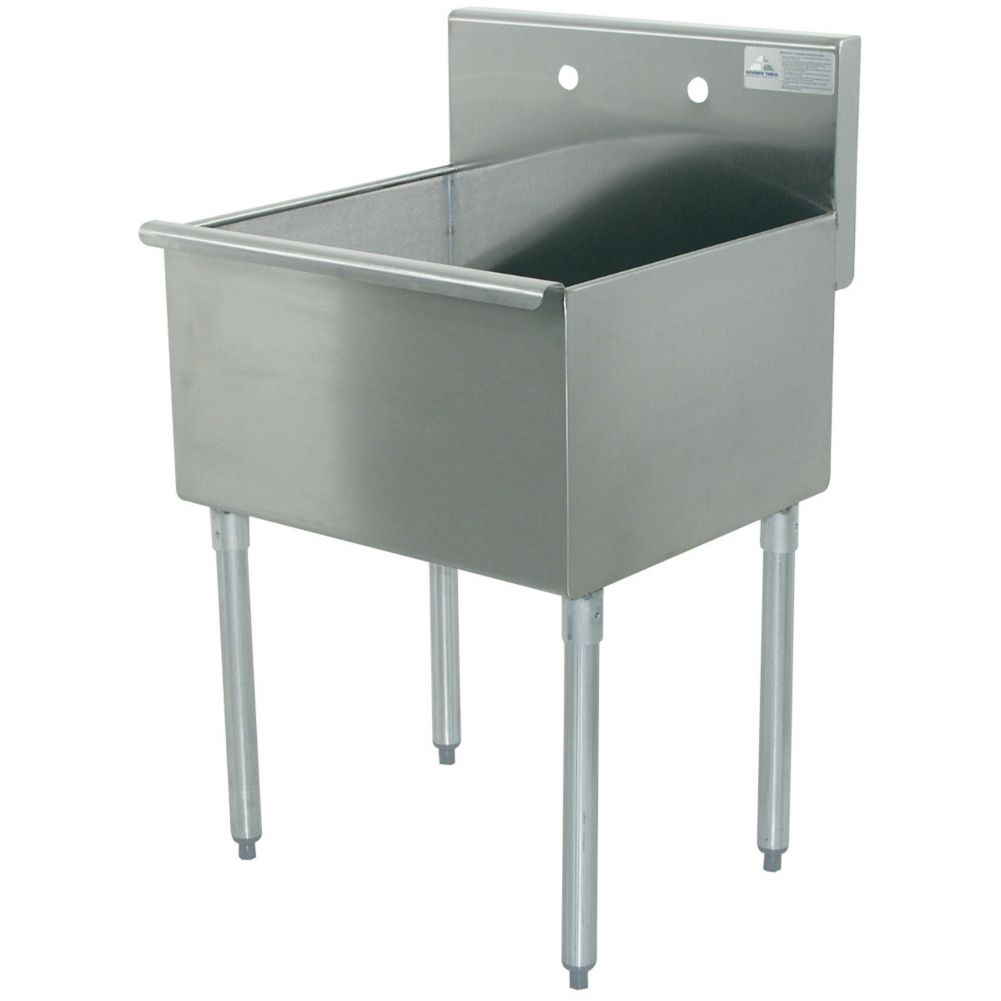 Advance Tabco 6-41-36 600 Series S/S 27-1/2 x 36 Square Corner Sink