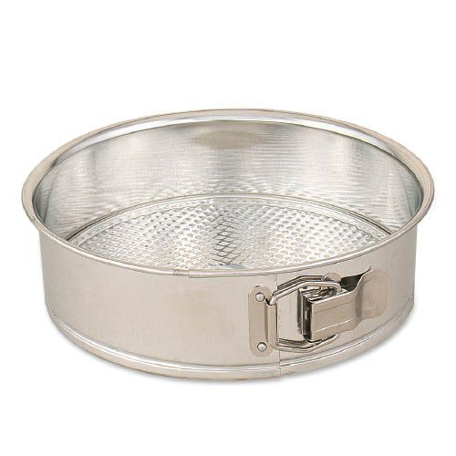 "Browne Foodservice 746074 Polished Tin 10"" Spring Form Cake Pan"