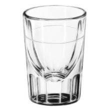 Libbey® 5135/S0617 Lined Fluted 1.25 Ounce Whiskey Glass - 48 / CS