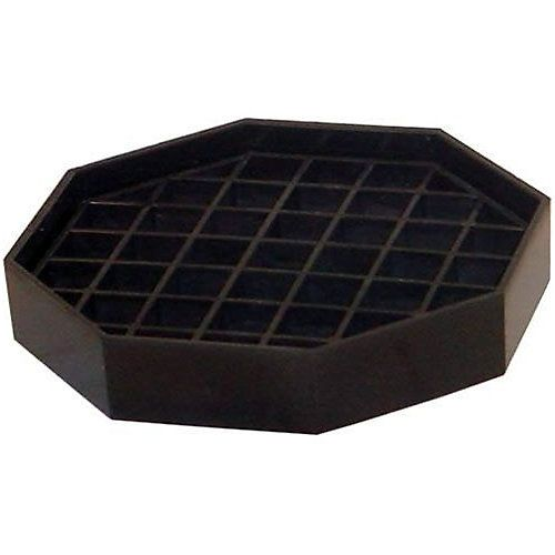 "Bar Maid CR-1451B Trivet Style Black Octagon 4-1/2"" Drip Catcher"