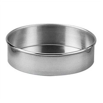 "Allied Metal Spinning 12"" x 1.5"" Aluminum Cake Pan"