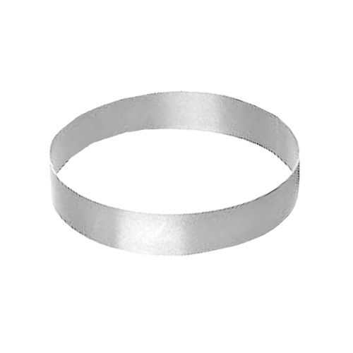 "Allied Metal Spinning CRS5138 5"" x 1.38"" Stainless Steel Cake Ring"