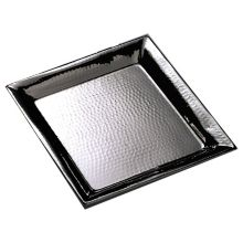 """American Metalcraft HMSQ18 18"""" Square Hammered S/S Tray"""