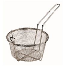 """Browne Foodservice 79090 Nickel Plated Wire 8.5"""" Round Fry Basket"""