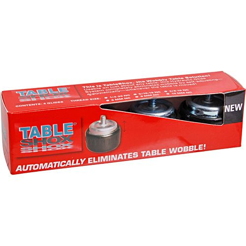 Table Shox 121-1147 1/4-20 Thread Self-Adjusting Table Glide - 4 / PK