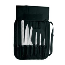 Dexter Russell SGBCC-7 SofGrip 7-Pc Chefs Knife Set with Black Handles