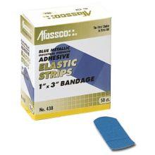 Afassco® 1438 Blue Metallic Fine Woven Adhesive Strips - 20 / BX