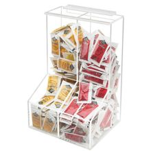 "Cal-Mil 925 Divided 8.5"" x 12"" 2-Bin Packet Dispenser"