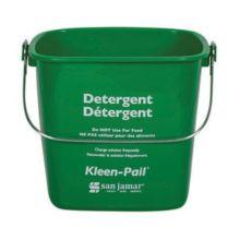 San Jamar® KP196GN Kleen-Pail® 6 Quart Green Detergent Pail