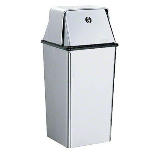 Bobrick B-2250 Stainless 13 Gallon Floor Standing Waste Receptacle