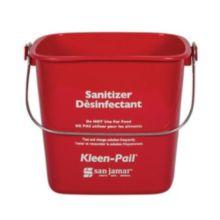 San Jamar® KP97RD Kleen-Pail® 3 Quart Red Sanitizer Pail