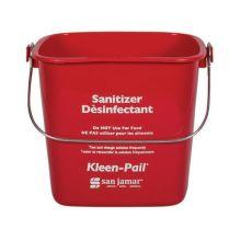 San Jamar® KP256RD Kleen-Pail® 8 Quart Red Sanitizer Pail