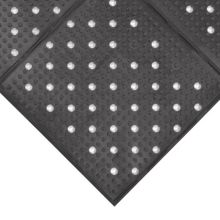 Notrax 410-941 Black Rubber 3' x 4' Multi Mat II® Floor Mat