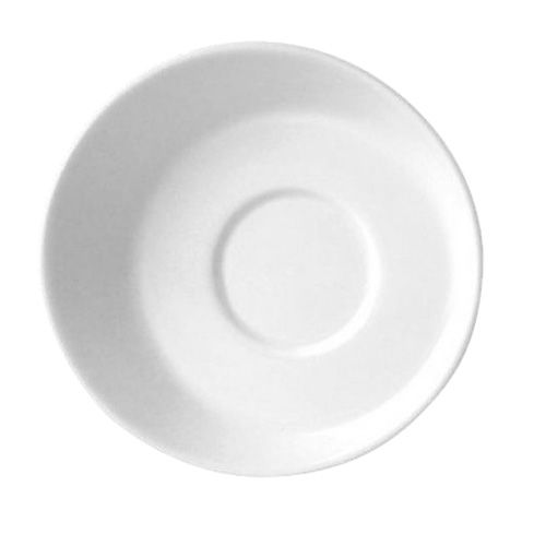 "Steelite 9001C635 Distinction Sheer White 4-5/8"" Saucer - 24 / CS"